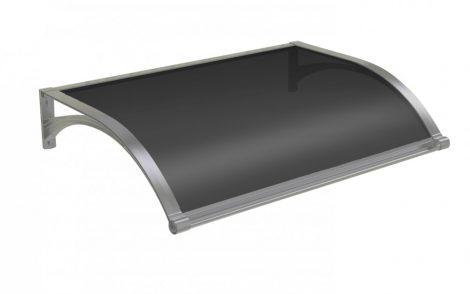 Alumínium tartókar füstös plexi borítással. Esővédő tető 120x100