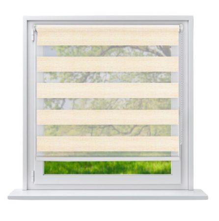 Sávos roló függöny homokszínű 100x150 fúrás nélküli ablak árnyékoló