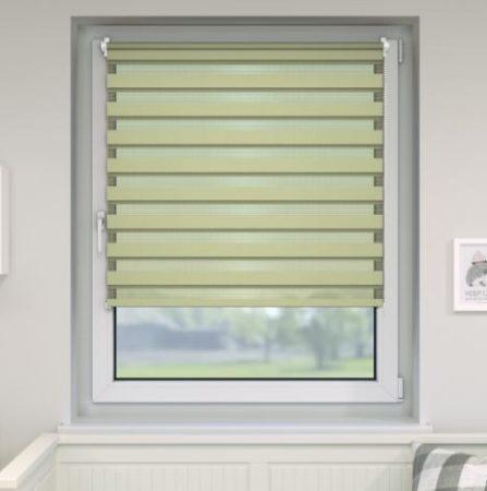 150x160 dupla sávos roló függöny zöld zebracsíkos ablak árnyékoló. 150x150-es ablakhoz is jó, de a hossza állítható illetve teljesen fel is tekerhető
