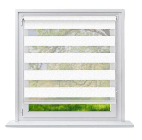 Sávos roló függöny fehér 55x150 cm fúrás nélküli ablak árnyékoló