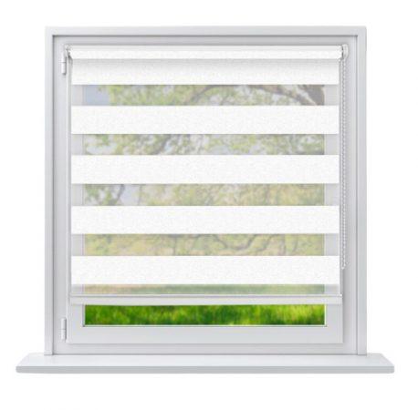 70x230 Sávos roló függöny fehér fúrás nélküli ablak árnyékoló