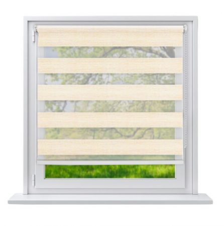 Sávos roló függöny homokszínű 90x230 fúrás nélküli ablak árnyékoló