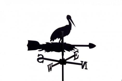 Szélkakas gólya kisméretű szélirányjelző