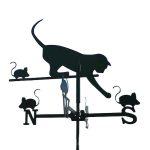 Szélkakas macska kisméretű szélirányjelző