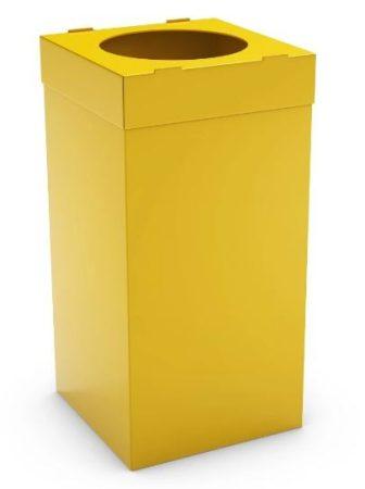 Irodai szemetes 35 x 35 x 70 cm 80 literes sárga színben