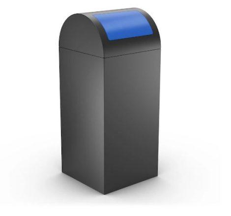 Szelektív hulladékgyűjtő antracit színben 50/60 literes