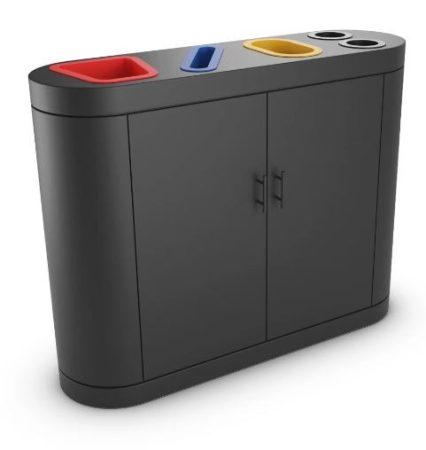 4 rekeszes szelektív hulladékgyűjtő 4x 50/60 literes