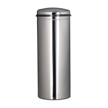 Rozsdamentes acél szemetes automata mozgásérzékelővel, ezüst inox 50 L