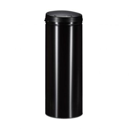 Rozsdamentes acél szemetes automata mozgásérzékelővel, fekete 50L