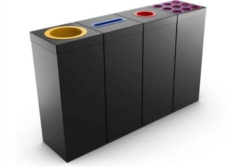 Fém szelektív hulladékgyűjtő 50/60 literes