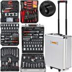 Szerszámos doboz 599 db -os szerszám készlettel biztonságos húzható bőrönd