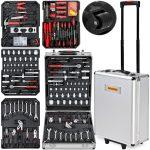 Szerszám készlet 599 db-os szerszámos bőrönd táska, műhelyfelszerelés