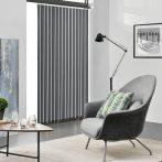 Szalagfüggöny 180 cm széles szürk lamellás függöny A 250 cm hosszú lamellák szabadon rövidíthetők, p