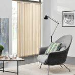Szalagfüggöny 200 cm széles drapp lamellás függöny A 250 cm hosszú lamellák szabadon rövidíthetők, p