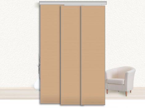 Designer szalagfüggöny 160 cm széles 250cm hosszú, szabadon rövidíthető 60cm széles lamellákkal enyh