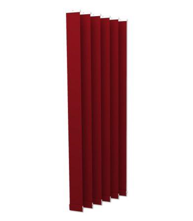 Házilag szerelhető szalagfüggöny 6 darab 8,9 cm széles lamellás függöny, a 250 cm hosszú piros