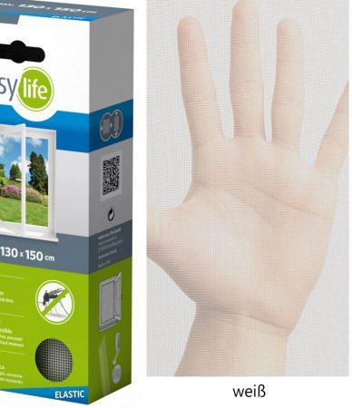 Rugalmas szúnyogháló, flexibilis, elasztikus 130x150 fehér