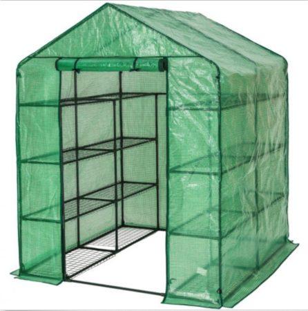 Üvegház növénytermesztéshez és neveléshez - hobby fóliasátor melegház 143 x 143 x 195 cm