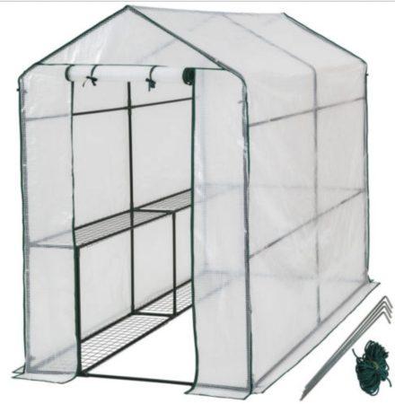 Üvegház növénytermesztéshez és neveléshez - hobby fóliasátor melegház 186 x 120 x 190 cm
