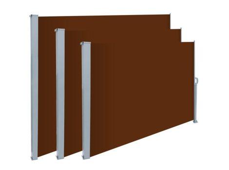 Térelválasztó kihúzható paraván 300x180 cm vízlepergető szövet szélfogó barna szín
