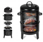 Smoker grillsütő 3 az 1-ben grill füstölő sütő BBQ