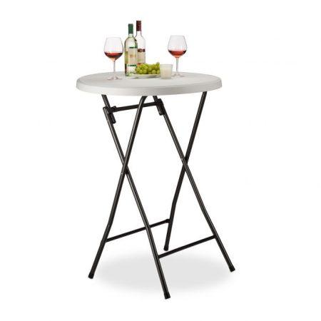 Rendezvény asztal műanyag asztallap 110 cm magas 80 cm átmérő például esküvő, álló fogadás