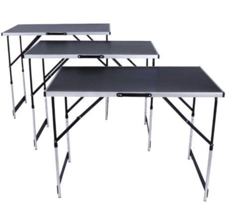Összecsukható asztal 3 db -os szett kemping vagy más alkalmi felhasználásra