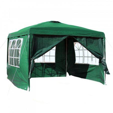 Kerti pavilon oldalfóliával 3x3 m kerti party sátor összecsukható sörsátor pergola több színben