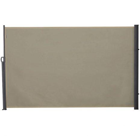 Térelválasztó kihúzható paraván 300x180 cm vízlepergető szövet szélfogó szélvédő tört fehér szín
