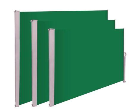 Térelválasztó kihúzható paraván 300x180 cm vízlepergető szövet szélfogó szélvédő zöld