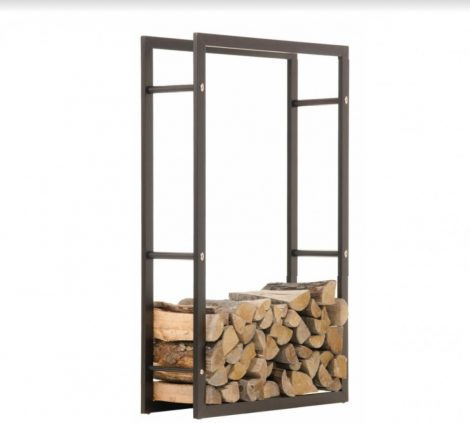 Beltéri dizájnos tűzifa tartó állvány keret 150 x 60 x 25 cm
