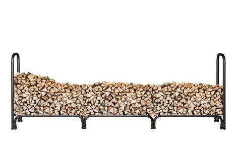 Tüzifa tároló nagyméretű tüzifa tartó bővítő keret 125 x 35 cm