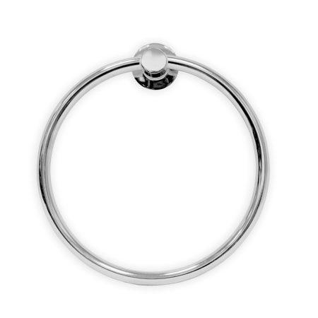 Törölközőtartó gyűrű krómozott rézből