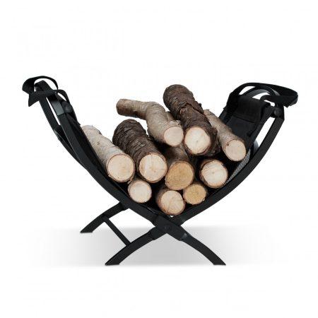 Tűzifa kosár hordozótáskával összecsukható 40 literes