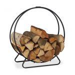 Tűzifa tároló, kerek tűzifa polc beltéri használatra