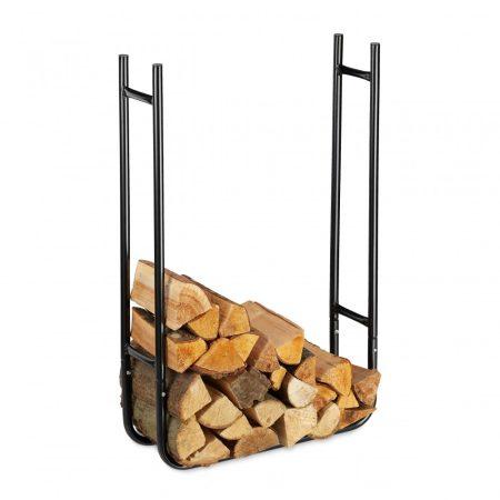 Keskeny tűzifa polc beltéri és kültéri használatra