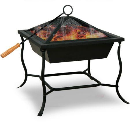 Tűzrakó, kandalló 45x45cm fekete