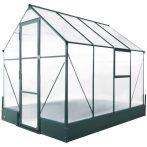 Kerti üvegház 250x190x219 cm polikarbonát lappal melegház alumínium vázzal