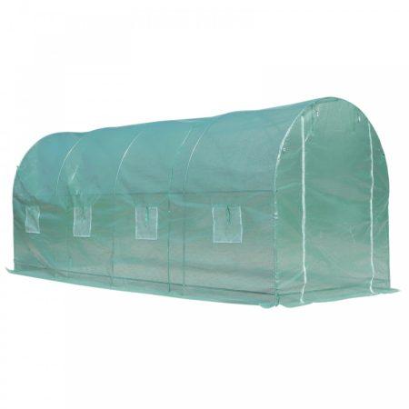 Fóliasátor növénytermesztéshez és neveléshez 8 ablakos üvegház melegház 500x200x210cm