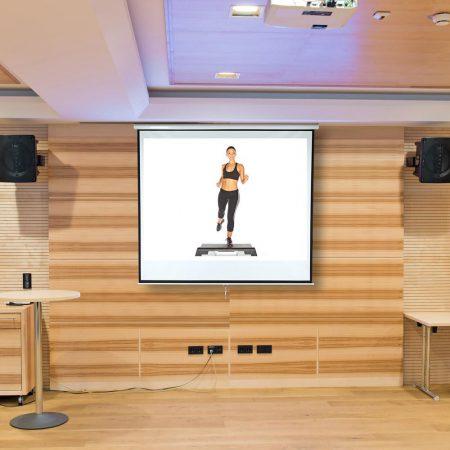 Vetítővászon 152x152cm falra szerelhető projektor vászon manuális tekerés