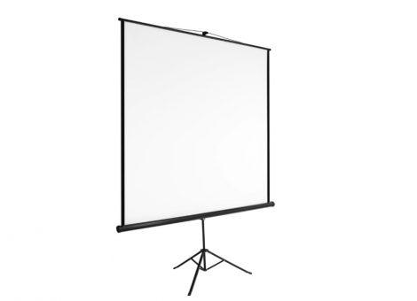 Vetítővászon 203x203cm állványos mobil projektor vászon összecsukható
