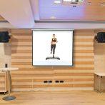Vetítővászon 203x203cm fali falra szerelhető projektor vászon