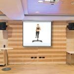 Vetítővászon 203x203cm falra szerelhető projektor vászon manuális tekerés