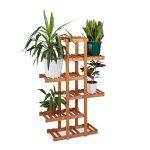 Beltéri fa virágtartó állvány lépcsőzetes kialakítás 5 polcos