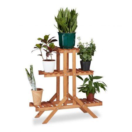 Beltéri fa virágtartó állvány lépcsőzetes kialakítás
