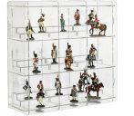 Figura, ólomkatona, bábutartó vitrin átlátszó akril átlátszó hátlappal
