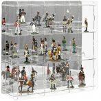 Figura, ólomkatona, bábutartó vitrin átlátszó akril tükrös hátlappal
