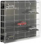 Modellautó vitrin, polc bemutató szekrény átlátszó akril 1:43 méretarányú modellekhez 50x7,5x46 cm f