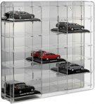 Modellautó vitrin, polc bemutató szekrény átlátszó akril 1:43 méretarányú modellekhez 50x7,5x46 cm t