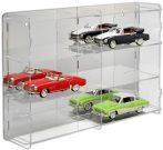 Modellautó vitrin, polc bemutató szekrény átlátszó akril 1:18 méretarányú modellekhez 64,7x15,2x46,3